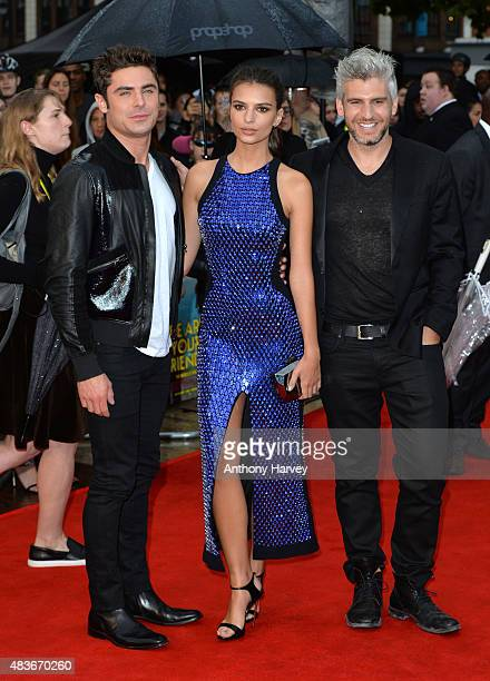 Zac Efron and Emily Ratajkowski and Director Max Joseph attend the European Premiere of We Are Your Friends at Ritzy Brixton on August 11 2015 in...