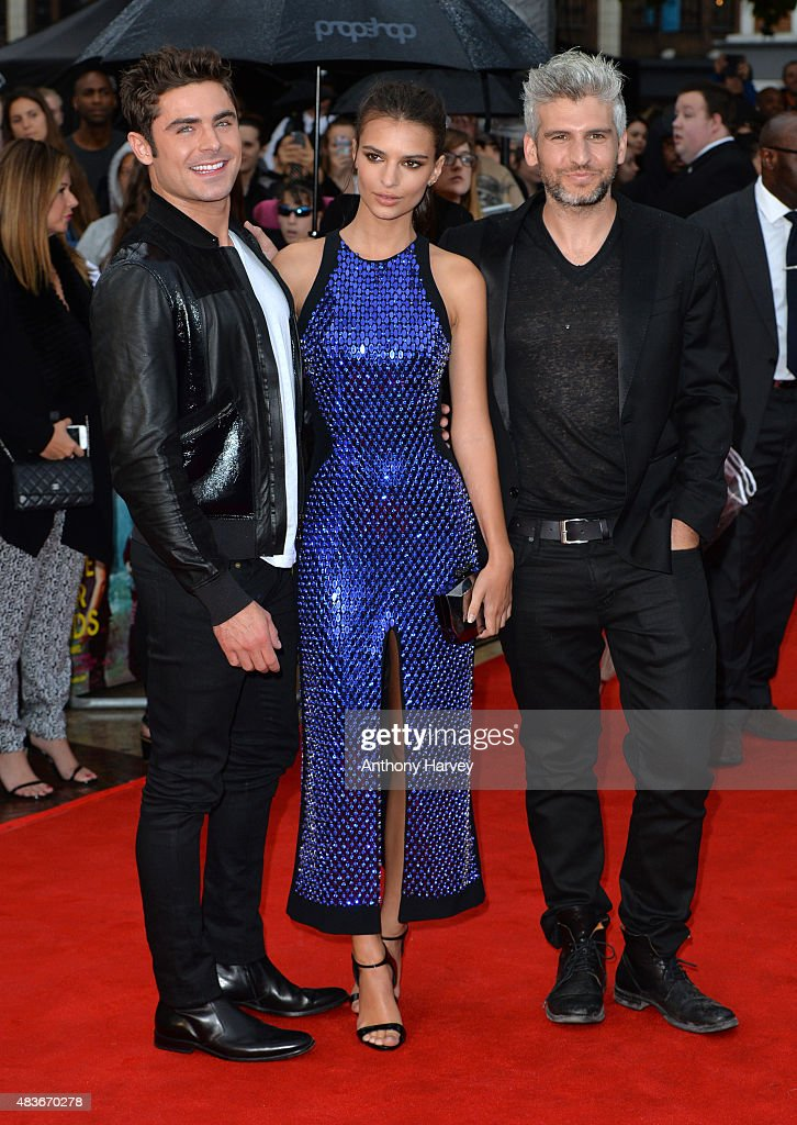 Zac Efron and Emily Ratajkowski and Director Max Joseph attend the European Premiere of 'We Are Your Friends' at Ritzy Brixton on August 11, 2015 in London, England.