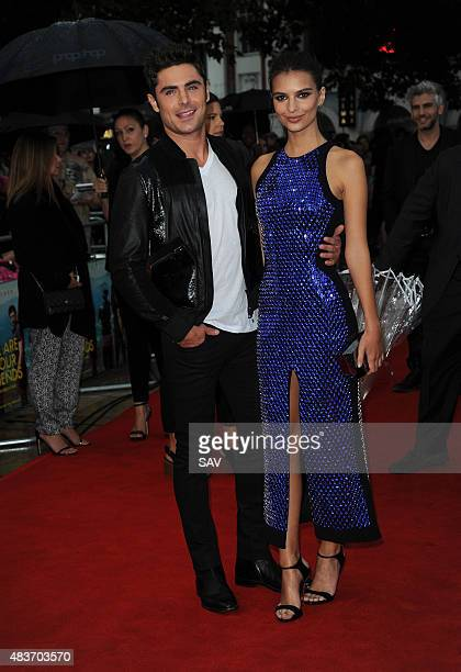 Zac Efron and Emily Ratajkowski arrive for the European Premiere of We Are Your Friends at The Ritzy Cinema in Brixton on August 11 2015 in London...