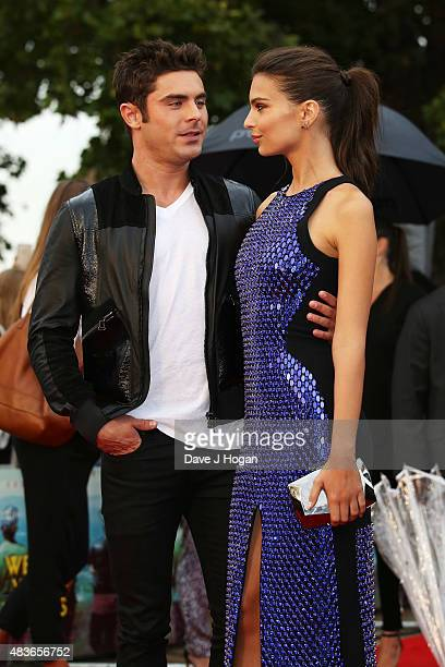 Zac Efron and Emily Ratajkowski attend the European Premiere of 'We Are Your Friends' at Ritzy Brixton on August 11 2015 in London England