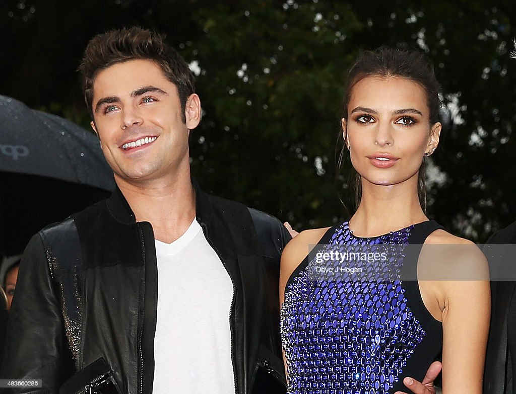 Zac Efron(L) and Emily Ratajkowski attend the European Premiere of 'We Are Your Friends' at Ritzy Brixton on August 11, 2015 in London, England.