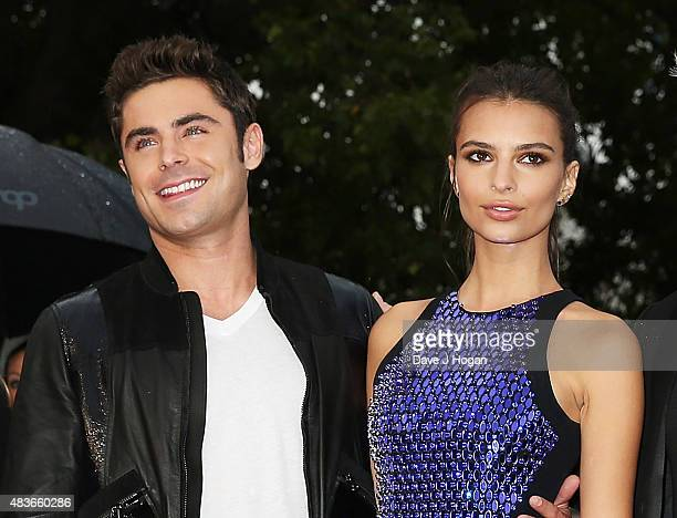 Zac Efron and Emily Ratajkowski attend the European Premiere of We Are Your Friends at Ritzy Brixton on August 11 2015 in London England