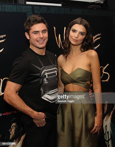 Zac Efron and Emily Ratajkowski attend the 'We Are Your Friends' Tour Stop Photo Call And After Party at Marquee on August 18 2015 in New York City