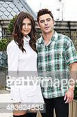 Zac Efron and Emily Ratajkowski pose at the We Are Your Friends photocall at the Corinthia Hotel London on August 11 2015 in London England