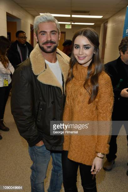 Zac Efron and Lily Collins attend the Extremely Wicked Shockingly Evil And Vile Premiere during the 2019 Sundance Film Festival at Eccles Center...