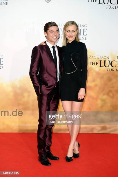 Zac Efron and Taylor Schilling attend the The Lucky One Germany Premiere at CineStar on April 25 2012 in Berlin Germany