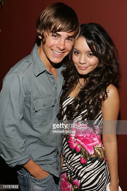 Zac Efron and Vanessa Hudgens at the Pearl in West Hollywood, California
