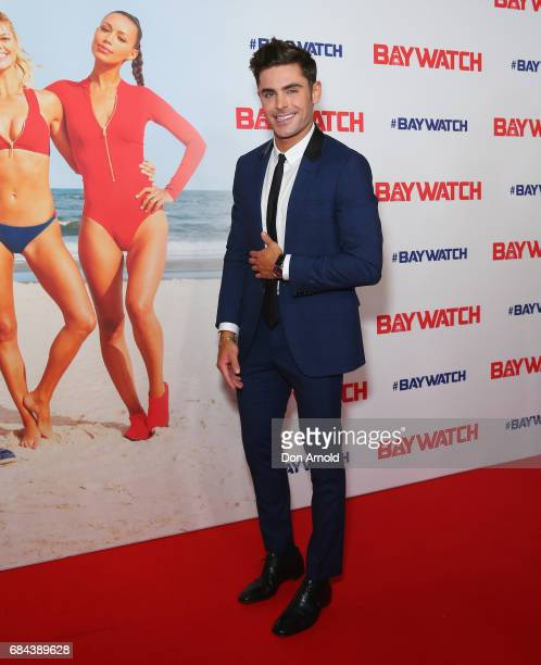Zac Efron arrives ahead of the Australian Premiere of Baywatch on May 18 2017 in Sydney Australia