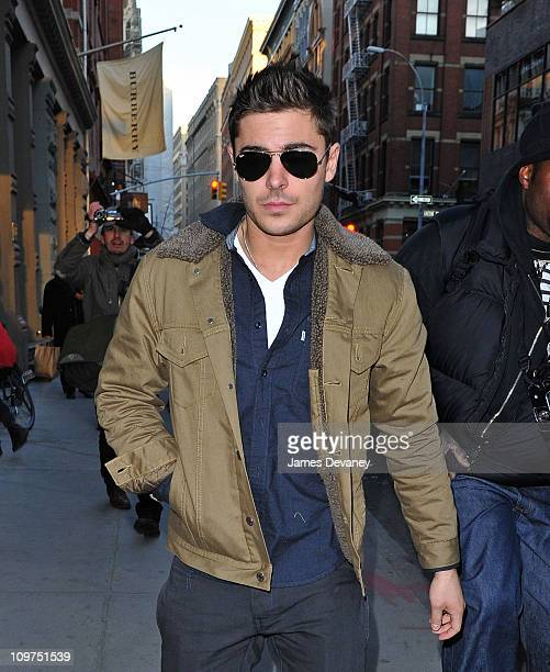 Zac Efron arrives at Diesel store in SoHo on March 3 2011 in New York City