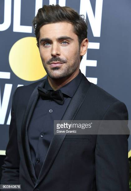 Zac Efron arrives at the 75th Annual Golden Globe Awards at The Beverly Hilton Hotel on January 7 2018 in Beverly Hills California
