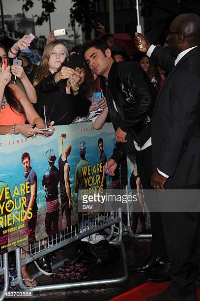 Zac Efron arrives at the film premiere of We Are Your Friends at thr Ritzy Cinema in Brixton on August 11 2015 in London England