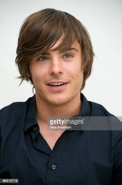Zac Efron at the '17 Again' press conference at the Four Seasons Hotel on April 5 2009 in Beverly Hills California