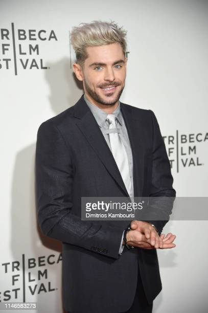 Zac Efron attends Extremely Wicked Shockingly Evil And Vile 2019 Tribeca Film Festival at BMCC Tribeca PAC on May 02 2019 in New York City