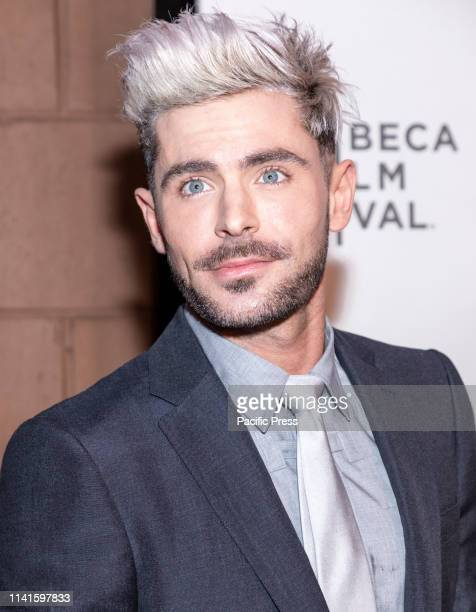"""Zac Efron attends """"Extremely Wicked, Shockingly Evil And Vile"""" during 2019 Tribeca Film Festival at The Stella Artois Theatre, Manhattan."""