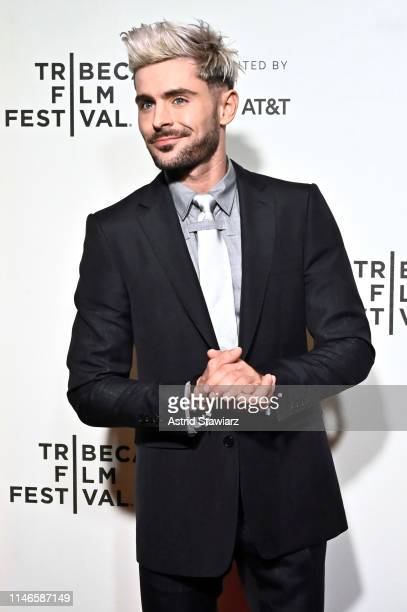 "Zac Efron attends Netflix's ""Extremely Wicked, Shockingly Evil and Vile"" Tribeca Film Festival Premiere at BMCC Tribeca Performing Arts Center on May..."