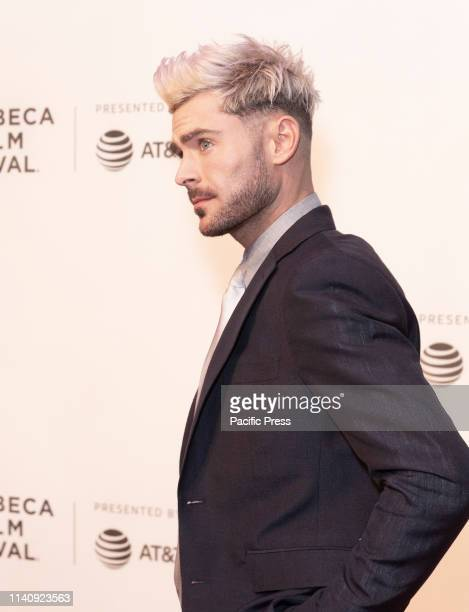 Zac Efron attends premiere of Extremely Wicked, Shockingly Evil and Vile movie during Tribeca Film Festival at Stella Artois Theatre at BMCC TPAC.