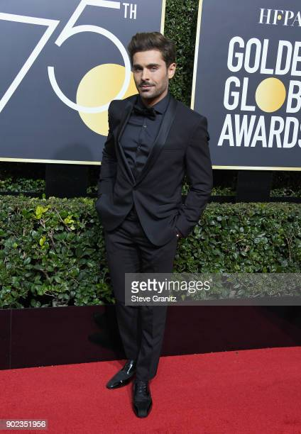 Zac Efron attends The 75th Annual Golden Globe Awards at The Beverly Hilton Hotel on January 7 2018 in Beverly Hills California