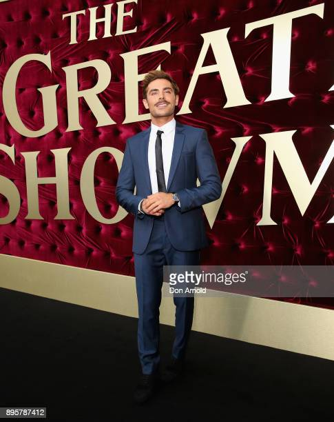 Zac Efron attends the Australian premiere of The Greatest Showman at The Star on December 20 2017 in Sydney Australia