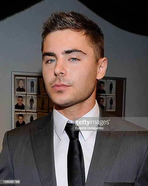 Zac Efron attends the Calvin Klein Men's Collection Fall 2011 fashion show during MercedesBenz Fashion Week at 205 West 39th Street on February 13...