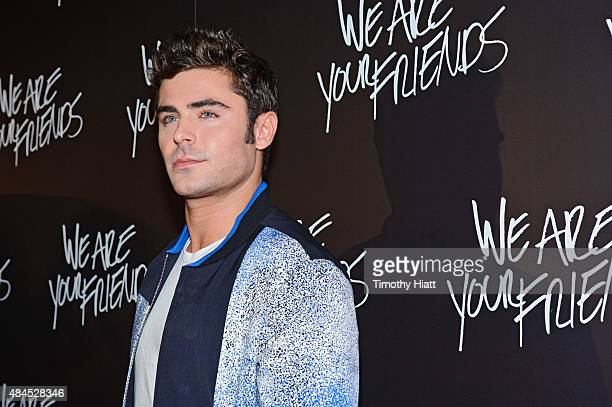 """Zac Efron attends the Chicago premiere of """"We Are Your Friends"""" at Showplace Icon Theater on August 19, 2015 in Chicago, Illinois."""