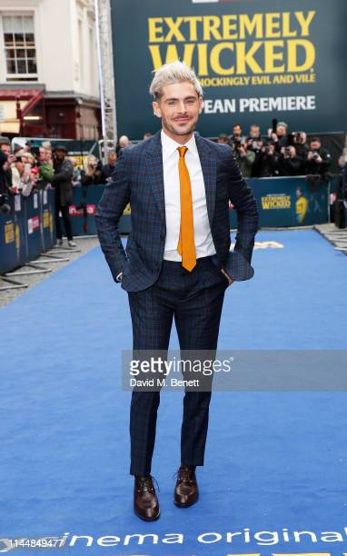 """Zac Efron attends the European Premiere of """"Extremely Wicked, Shockingly Evil And Vile"""" at The Curzon Mayfair on April 24, 2019 in London, England."""
