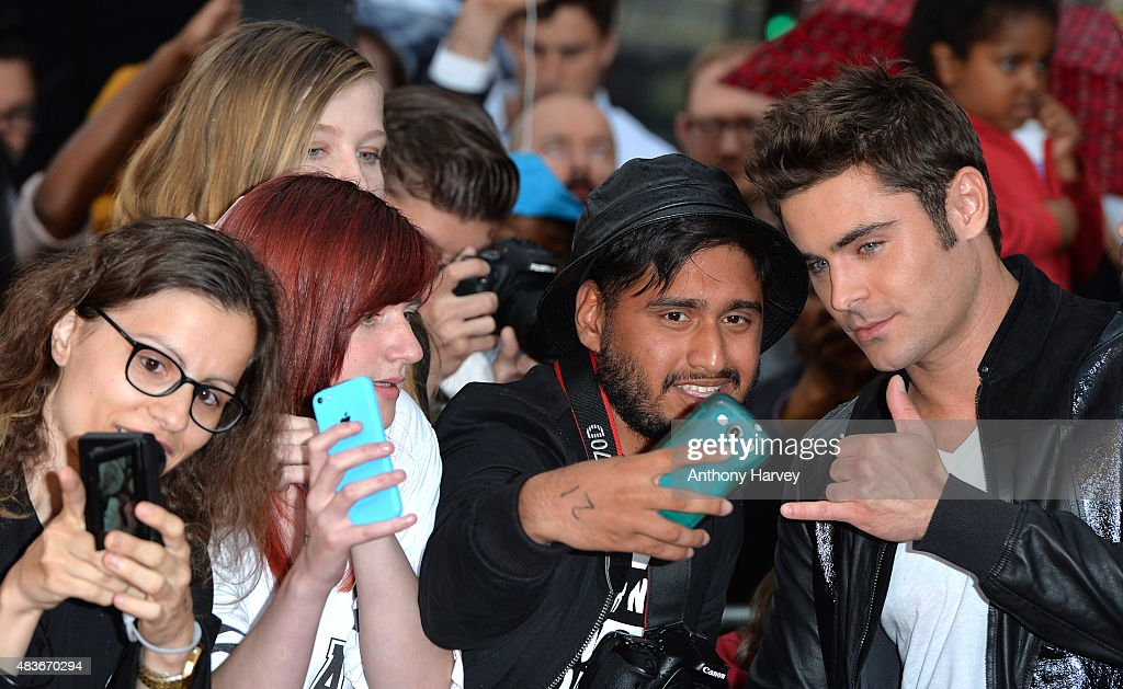 Zac Efron attends the European Premiere of 'We Are Your Friends' at Ritzy Brixton on August 11, 2015 in London, England.