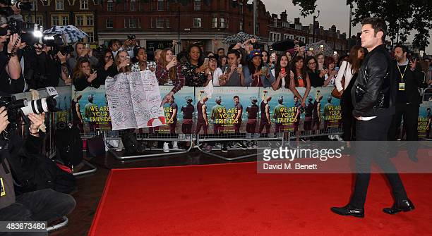 Zac Efron attends the European Premiere of We Are Your Friends at Ritzy Brixton on August 11 2015 in London England