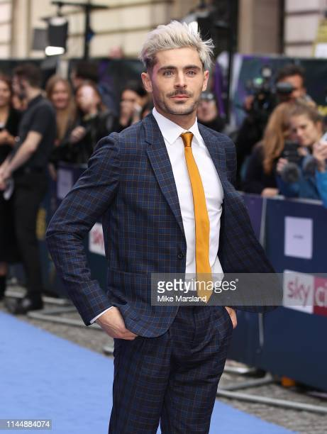 "Zac Efron attends the ""Extremely Wicked, Shockingly Evil and Vile"" European premiere at The Curzon Mayfair on April 24, 2019 in London, England."