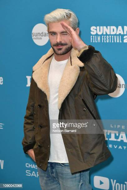 "Zac Efron attends the ""Extremely Wicked, Shockingly Evil And Vile"" Premiere during the 2019 Sundance Film Festival at Eccles Center Theatre on..."