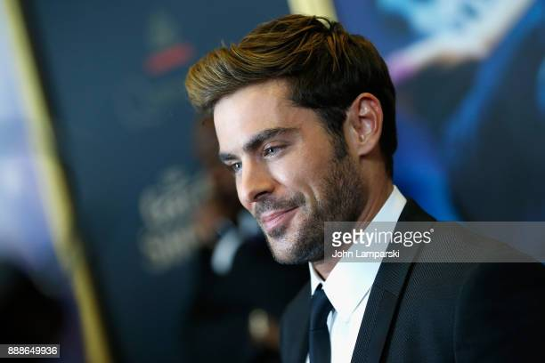 Zac Efron attends 'The Greatest Showman' World Premiere aboard the Queen Mary 2 at the Brooklyn Cruise Terminal on December 8 2017 in the Brooklyn...