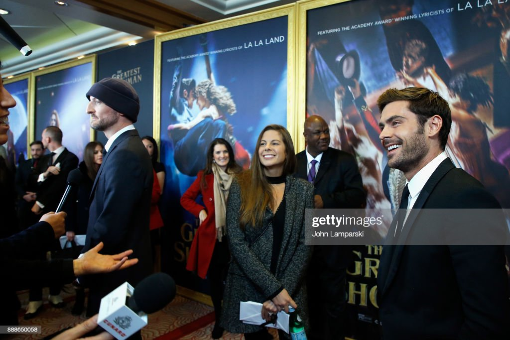 Zac Efron attends 'The Greatest Showman' World Premiere aboard the Queen Mary 2 at the Brooklyn Cruise Terminal on December 8, 2017 in the Brooklyn borough of New York City.