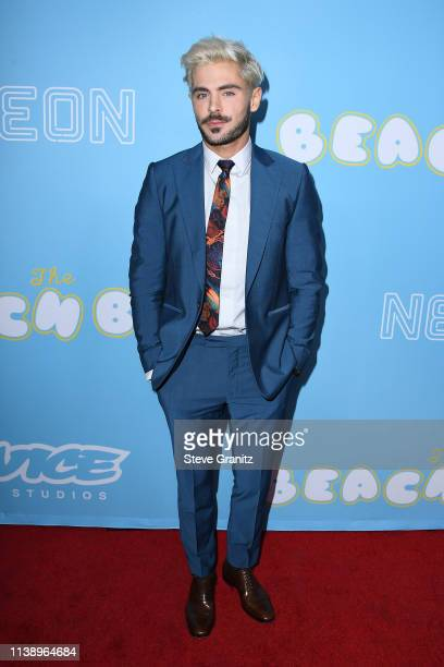 "Zac Efron attends the Los Angeles Premiere Of Neon And Vice Studio's ""The Beach Bum"" at ArcLight Hollywood on March 28, 2019 in Hollywood, California."