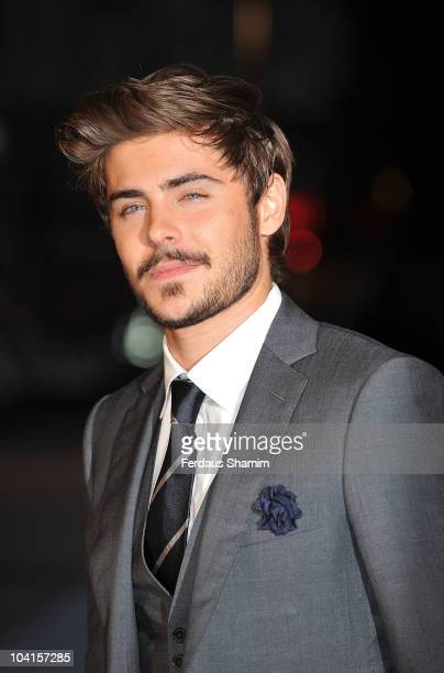 Zac Efron attends the UK premiere of 'The Death and Life of Charlie St Cloud' at Empire Leicester Square on September 16 2010 in London England