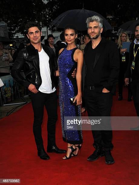 Zac Efron Emily Ratajkowski and Max Joseph arrive for the European Film Premiere of We Are Your Friends at The Ritzy Cinema in Brixton on August 11...