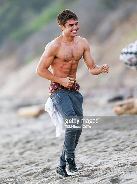 Zac Efron is seen on the set of 'We Are Your Friends' on September 09 2014 in Los Angeles California