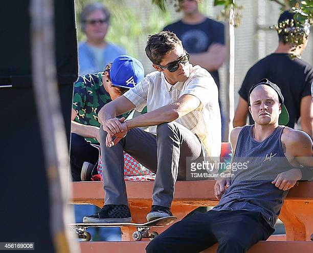 Zac Efron is seen on the set of 'We Are Your Friends' on September 26 2014 in Los Angeles California