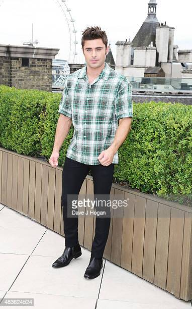 Zac Efron poses at the We Are Your Friends photocall at the Corinthia Hotel London on August 11 2015 in London England