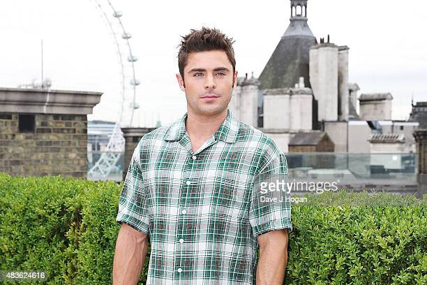 Zac Efron poses at the 'We Are Your Friends' photocall at the Corinthia Hotel London on August 11 2015 in London England