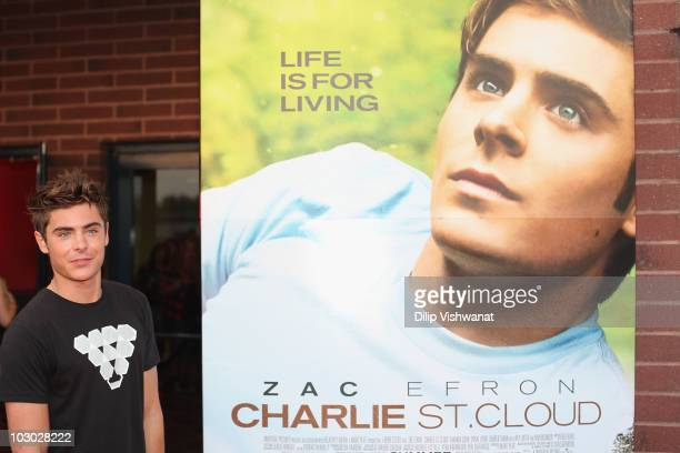 Zac Efron poses for a photo at the 'Charlie St Cloud' St Louis screening on July 21 2010 in St Louis Missouri