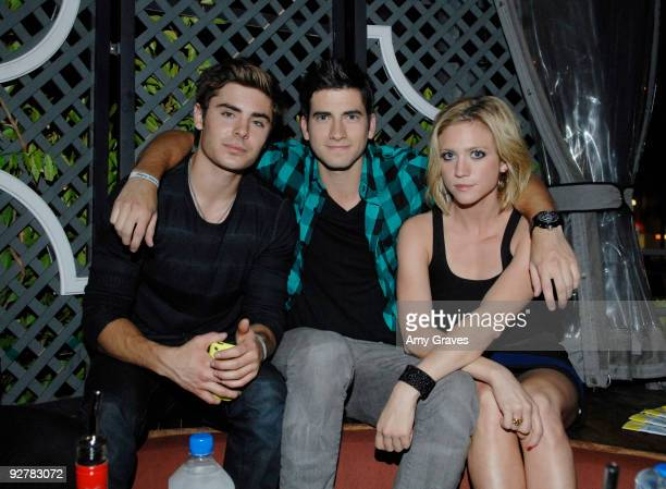 Zac Efron, Ryan Rottman and Brittany Snow attend the NYLON Guys November Issue Launch Event at XIV on November 4, 2009 in West Hollywood, California.