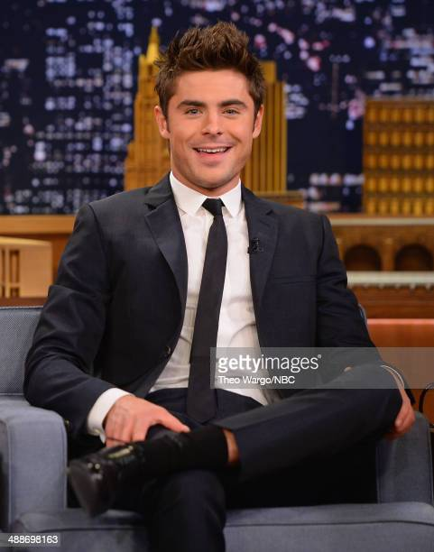 Zac Efron visits 'The Tonight Show Starring Jimmy Fallon' at Rockefeller Center on May 7 2014 in New York City