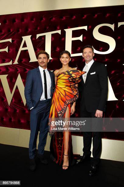 Zac Efron Zendaya and Hugh Jackman attend the Australian premiere of The Greatest Showman at The Star on December 20 2017 in Sydney Australia