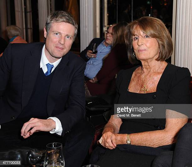 Zac Goldsmith and Lady Annabel Goldsmith attends the Pig Pledge fundraiser to boycott meat from animal factories hosted by Tracy Worcester at No 41...