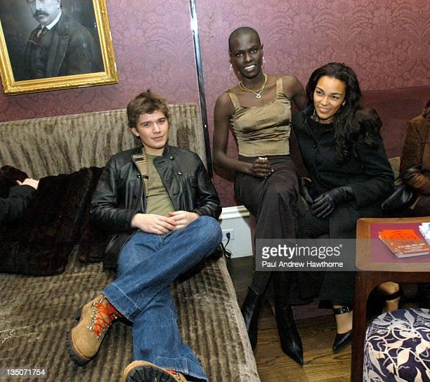 Zac Hanson Ford Models' Ajuma Nasenyana and Joey Sosa