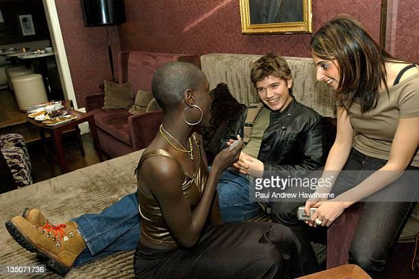 Zac Hanson Ford Models' Ajuma Nasenyana and US Weekly's Alyssa Shelasky