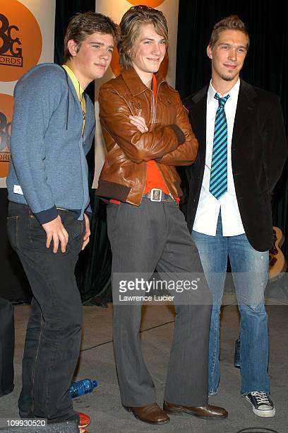 Zac Hanson Taylor Hanson and Isaac Hanson during Hanson Announce Launch Of 3CG Record Label And Carnegie Hall Performance at Bottom Line in New York...