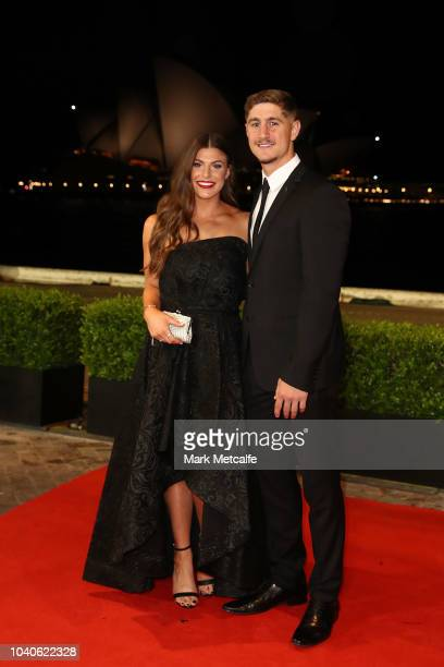 Zac Lomax arrives at the 2018 Dally M Awards at Overseas Passenger Terminal on September 26 2018 in Sydney Australia