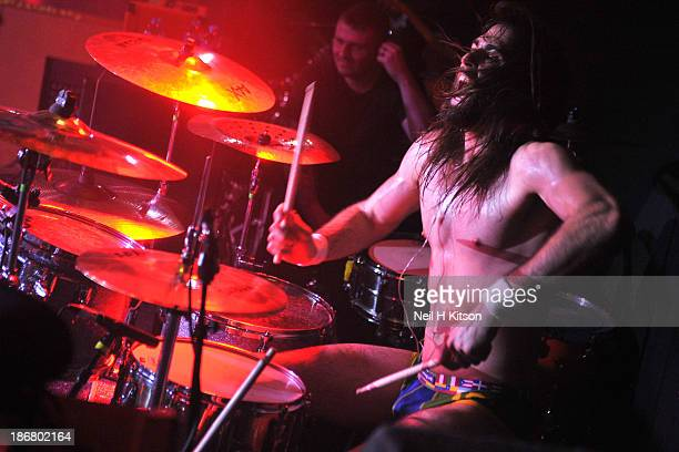 Zac Morris of Ugly Kid Joe performs on stage at Manchester Academy on October 24 2013 in Manchester England