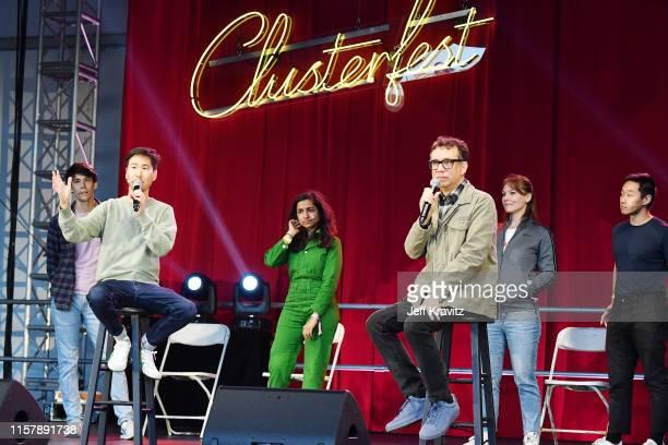 Zac Oyama Will Choi Rekha Shankar Fred Armisen Sarah Claspell and Dan Lee speak onstage at the 2019 Clusterfest on June 23 2019 in San Francisco...