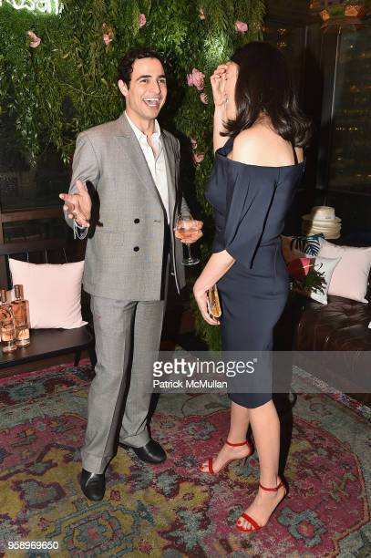 Zac Posen and Ann Caruso attends the VieVite x Zac Posen LimitedEdition Bottle Launch at Salon de Ning at The Penisula on May 15 2018 in New York City